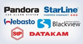 StarLine, Pandora, Datakam, Blackview, Webasto, StP